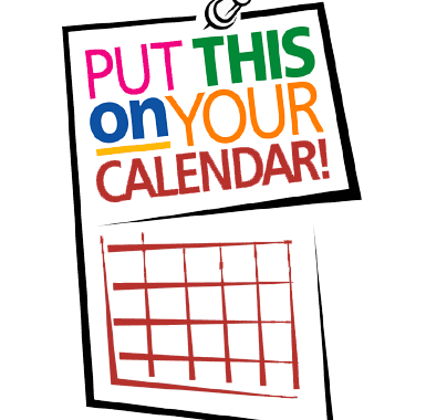 Clipart of calendar in black and red lines