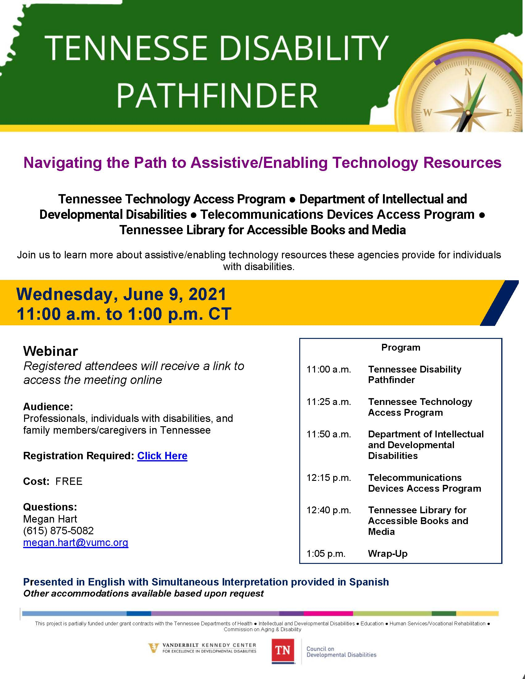 """Infographic for TN Pathfinder's """"Navigating the Path to Assistive/Enabling Technology Resources."""""""